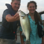 Gracie Johnson on guided fishing trip with Clagett Talley