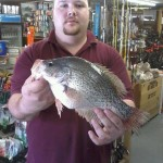 Paul Suggs 3lbs 1.6oz 3-11-12 was the new lake record black crappie