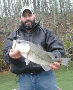 Mike DeBlasio with a Lawrence Co. Largemouth