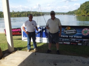 Angler of the Year - Gilbert Geren (left) and John Swallows (right)